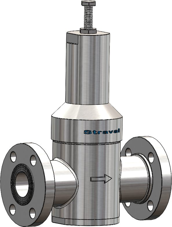 alloy inline flanged Pressure reducing valve